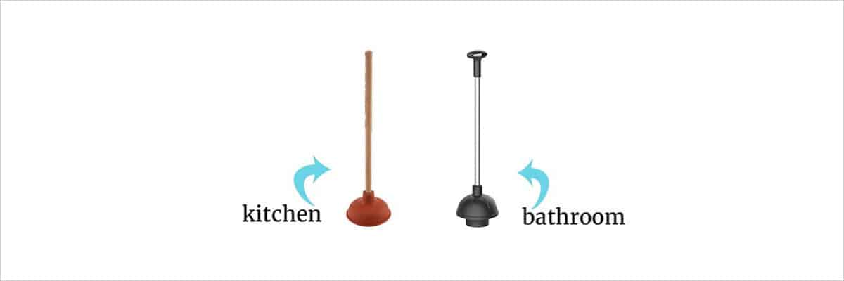 kitchen and bathroom plungers