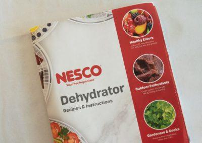 Nesco FD-75PR recipe book